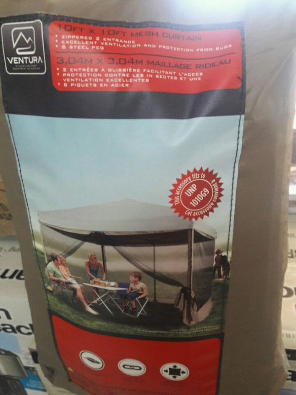 "10ft×10ft. Only ""Mesh"" curtain for tent. New. 09553017-c2d2-4657-91fd-3684ef2d5294"