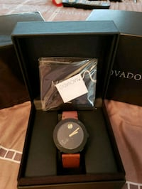 New! Movado Bold! Black Face & Brown Leather Band! Tampa, 33634