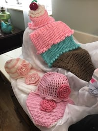 pink, green, and white knitted textile Evansville, 47710