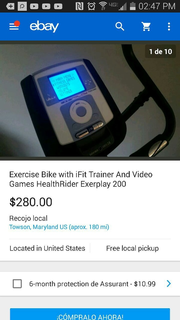 white and black Exercise bike with iFit Trainer and Video screenshot