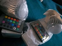 Colorful party lights bulbs w/controllers  Stockton, 95206