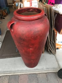 "Large Southwest Decorative vase, 37"" tall 12"" at top"