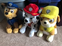 Paw patrol stuffed animals  10 for all or 5 each