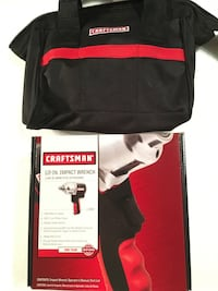 """Craftsman 1/2"""" air impact wrench and 13"""" tool bag"""