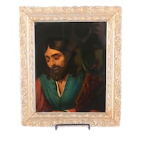 Portrait of a Man with a Cow Tenebrist Old Master Oil Painting Lakewood