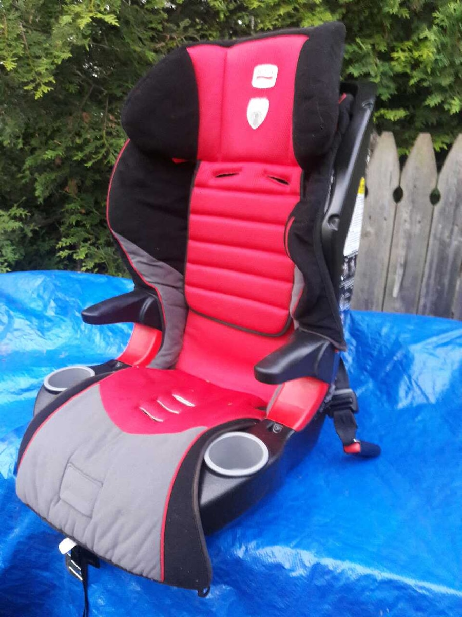 toddler's black and red car booster seat - Melville