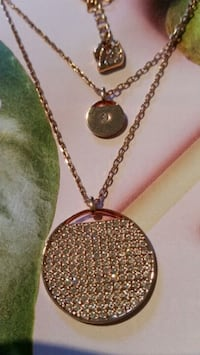 Roz gold  Swarovsky  2 layers chain  with disc