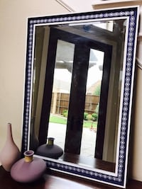 Blue and White hand painted mirror Plano, 75093