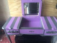 Purple and gray wooden vanity table Tampa, 33625