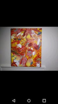Red Yellow and white abstract painting Milwaukee, 53202