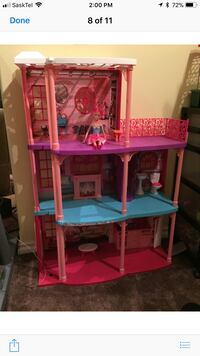 Barbie house with working elevator.