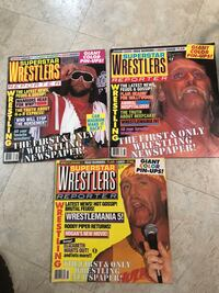 12 Professional Wrestling Magazines from the 1980's High Point, 27265