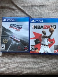 PS4 games , NBA 2k18 and need for speed rivals. 2 for the price of 1 3252 mi