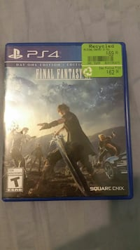Final fantasy for ps4 perfect condition.  Burnaby