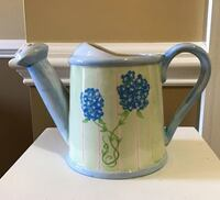 Blue Floral Watering Can Flower Pot Wilmington, 28411