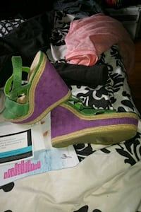 pair of green-and-pink express wedges Cherry Hill, 08002