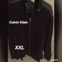 black Calvin Klein zip-up jacket