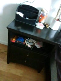 Awesome beefy black nightstand