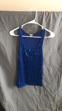 Blue bedazzled tank top Frederick, 21703