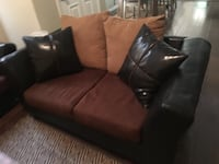 brown leather 3-seat sofa Allen, 75002