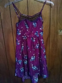 purple and pink floral spaghetti strap dress Roswell, 88201