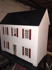 White and black wooden house miniature scale Wappingers Falls, 12590