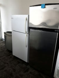 silver and white top-mount refrigerators with silver dishwasher Mississauga, L5S 1B1