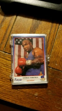 1991 George Foreman Heavyweight boxing card  Plymouth, 02360