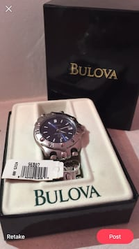 Silver bulova analog watch with box Edmonton, T5A