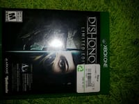 Xbox 360 Dishonored 2 game case West Kelowna, V4T 1G2