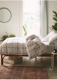 Distressed Check Duvet Set Barrie