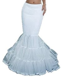 Mermaid dress crinoline