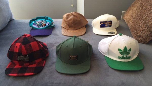 Vintage Snapback Hats >> New York Icinde Ikinci El Satilik Lot Of 6 Vintage And New Snapback