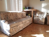 brown and white floral bed sofa set TORONTO
