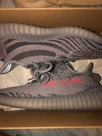 Pair of gray adidas yeezy boost 350 v2 Houston, 77084