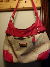 women's pink and brown leather hobo bag Canton, 44708
