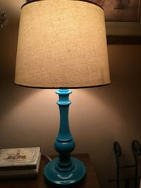 Turquoise colored lamp a d shade Bear, 19701