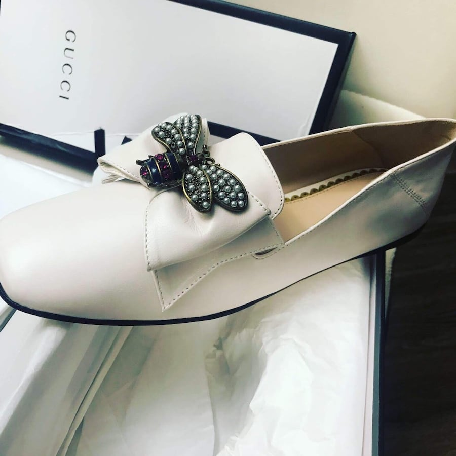 Gucci Bee Ballerina Loafers size 9