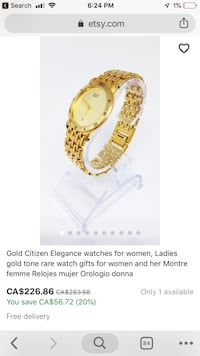 Gold citizen elegance women's watch  null, V3Y