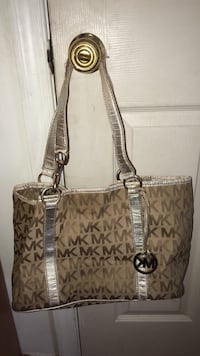 brown and gray Michael Kors tote bag Hagerstown