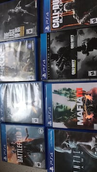 Eight assorted ps4 game cases Winnipeg, R2V 0W5
