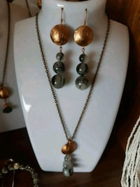 Penny  and Rutilated Quartz Earrings and Necklace  Dufresne, R0A 0J0