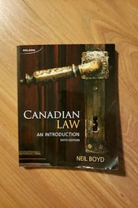 Canadian Law an introduction Surrey, V4P 2N1