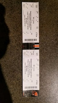 2 bc lions tickets for tonights game at 7pm pick u Langley City