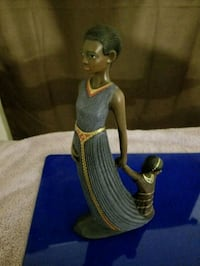 brown and blue ceramic figurine Waldorf, 20603