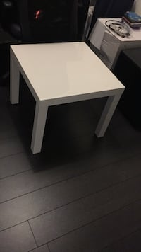 Rectangular white wooden coffee table