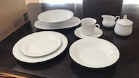 White ceramic dinnerware set Thousand Oaks, 91360
