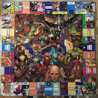 Custom marvel comics monopoly board cards and pieces