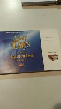 Autograph book for Days of Our Lives Lake Forest