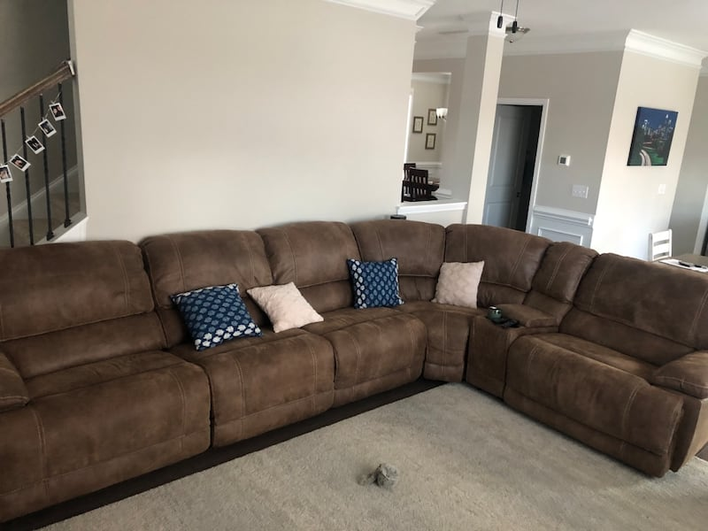 Used Recliner Sectional And Bonus